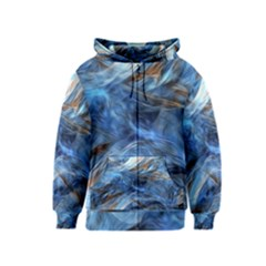 Blue Colorful Abstract Design  Kids  Zipper Hoodie