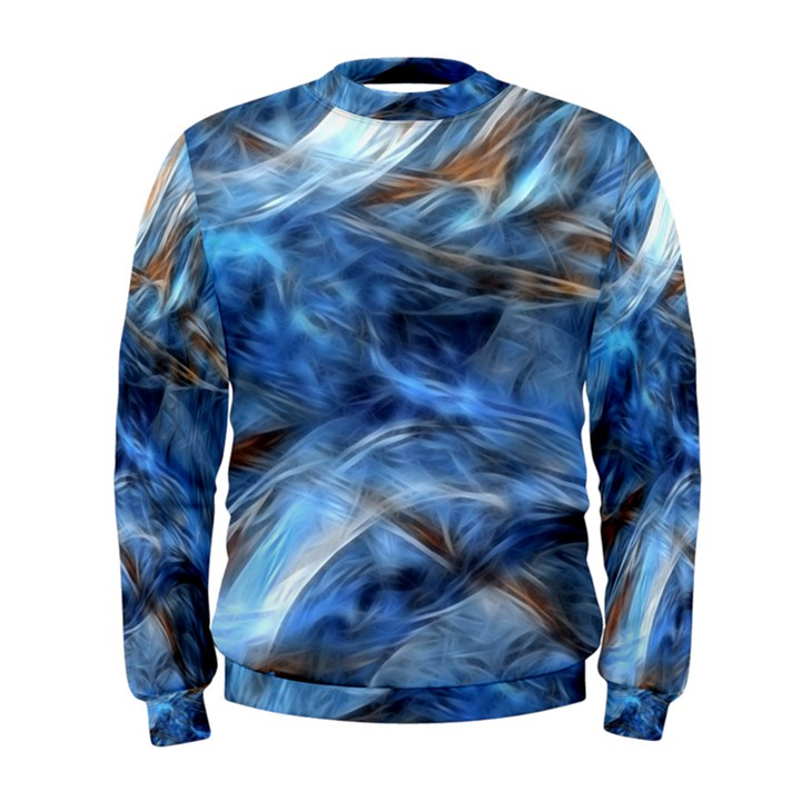 Blue Colorful Abstract Design  Men s Sweatshirt