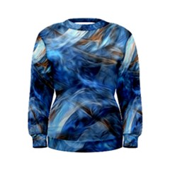 Blue Colorful Abstract Design  Women s Sweatshirt
