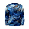 Blue Colorful Abstract Design  Women s Sweatshirt View1