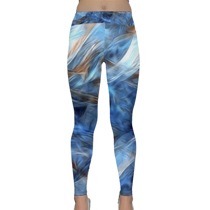 Blue Colorful Abstract Design  Yoga Leggings