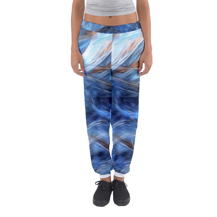 Blue Colorful Abstract Design  Women s Jogger Sweatpants