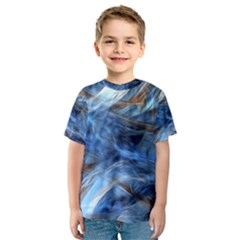 Blue Colorful Abstract Design  Kids  Sport Mesh Tee