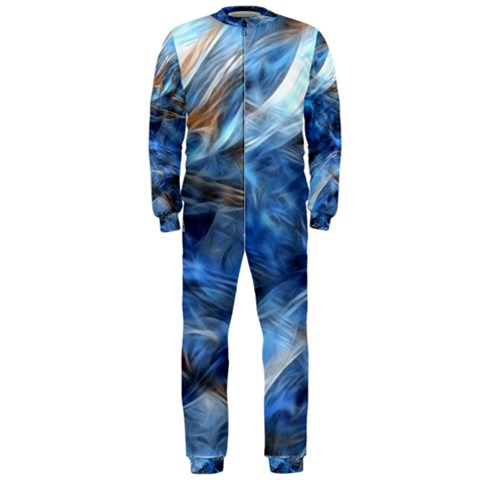 Blue Colorful Abstract Design  OnePiece Jumpsuit (Men)