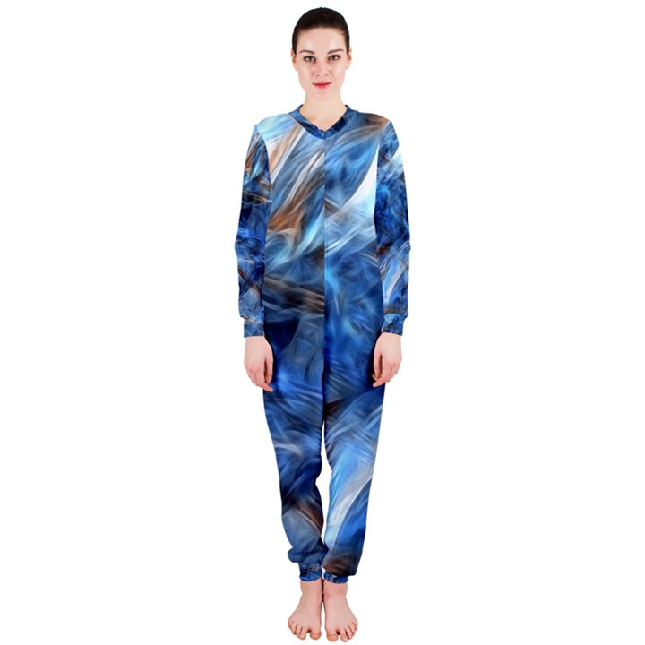 Blue Colorful Abstract Design  OnePiece Jumpsuit (Ladies)
