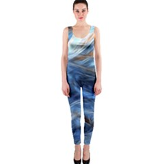 Blue Colorful Abstract Design  Onepiece Catsuit