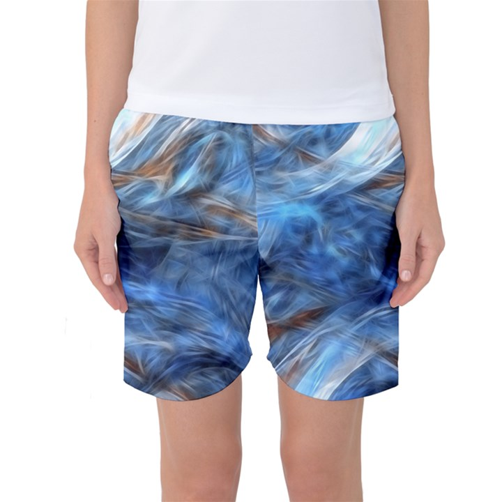 Blue Colorful Abstract Design  Women s Basketball Shorts