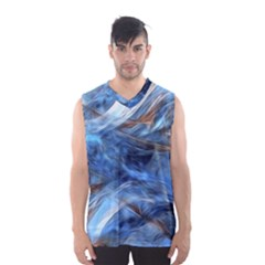 Blue Colorful Abstract Design  Men s Basketball Tank Top