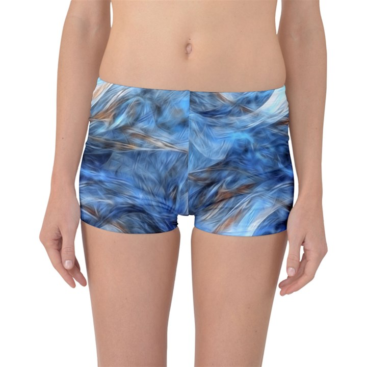 Blue Colorful Abstract Design  Boyleg Bikini Bottoms