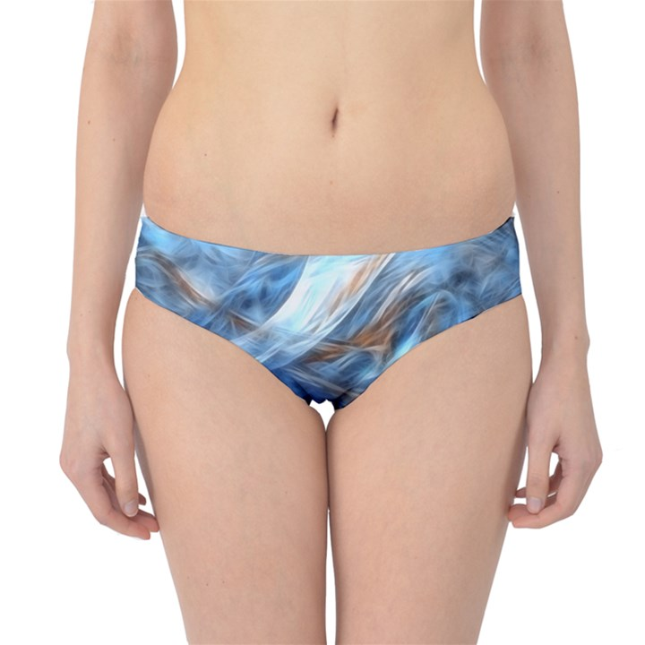 Blue Colorful Abstract Design  Hipster Bikini Bottoms