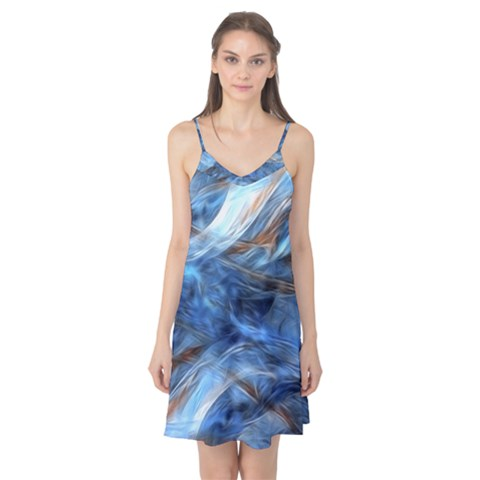 Blue Colorful Abstract Design  Camis Nightgown
