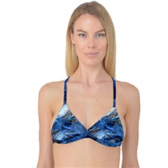 Blue Colorful Abstract Design  Reversible Tri Bikini Top