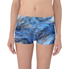 Blue Colorful Abstract Design  Reversible Boyleg Bikini Bottoms
