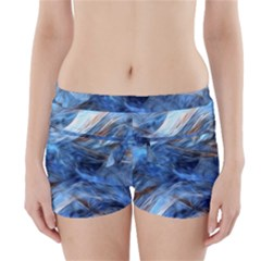 Blue Colorful Abstract Design  Boyleg Bikini Wrap Bottoms
