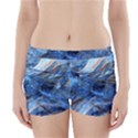 Blue Colorful Abstract Design  Boyleg Bikini Wrap Bottoms View1