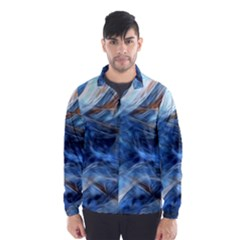 Blue Colorful Abstract Design  Wind Breaker (men)
