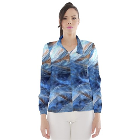 Blue Colorful Abstract Design  Wind Breaker (Women)
