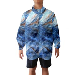 Blue Colorful Abstract Design  Wind Breaker (kids)