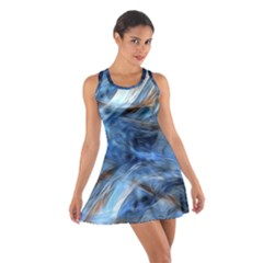 Blue Colorful Abstract Design  Cotton Racerback Dress