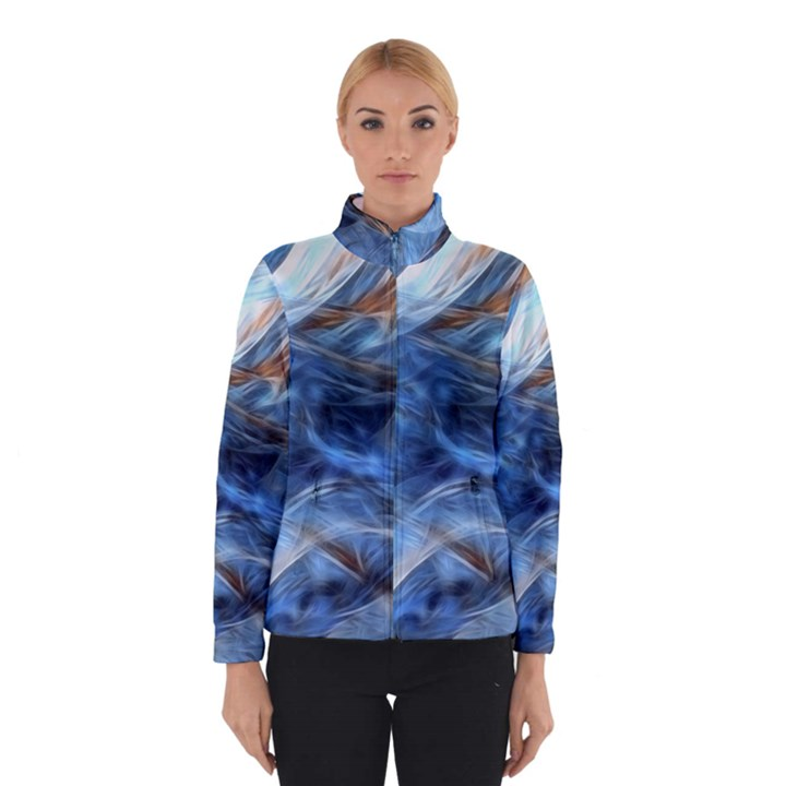 Blue Colorful Abstract Design  Winterwear