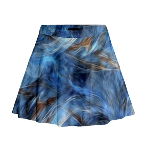 Blue Colorful Abstract Design  Mini Flare Skirt