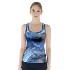 Blue Colorful Abstract Design  Racer Back Sports Top