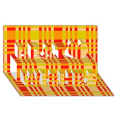 Check Pattern Best Wish 3D Greeting Card (8x4)