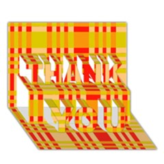 Check Pattern THANK YOU 3D Greeting Card (7x5)