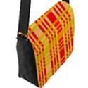 Check Pattern Flap Messenger Bag (L)  View2