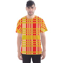Check Pattern Men s Sport Mesh Tee