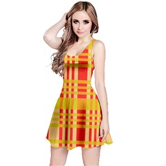 Check Pattern Reversible Sleeveless Dress