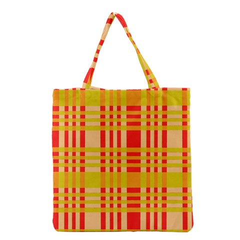 Check Pattern Grocery Tote Bag