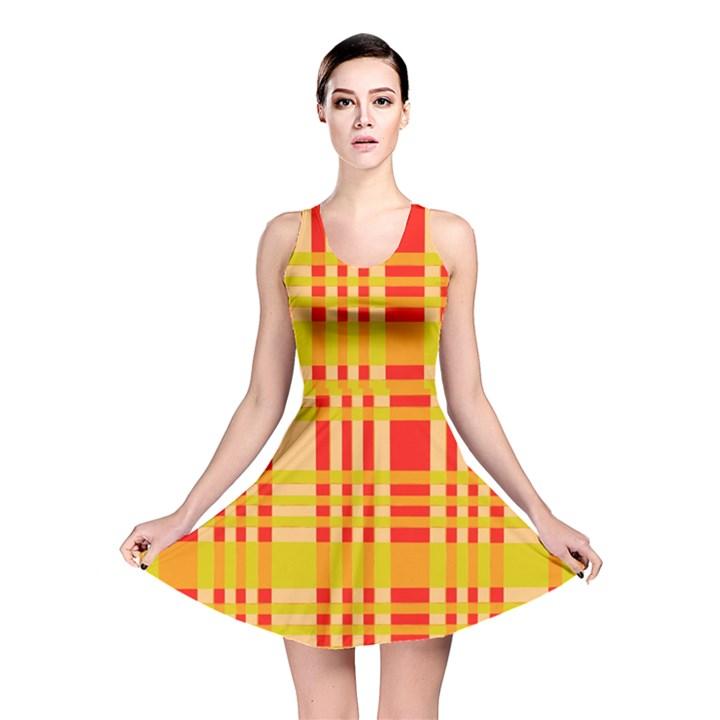 Check Pattern Reversible Skater Dress