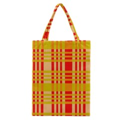 Check Pattern Classic Tote Bag