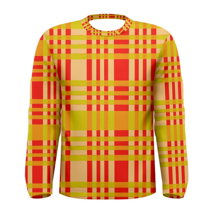 Check Pattern Men s Long Sleeve Tee