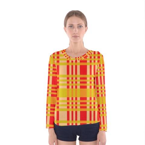 Check Pattern Women s Long Sleeve Tee
