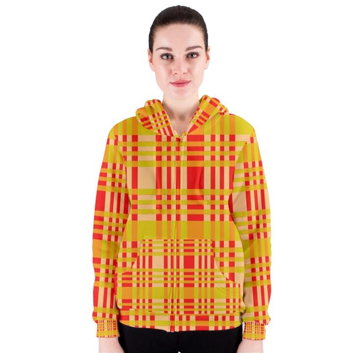 Check Pattern Women s Zipper Hoodie