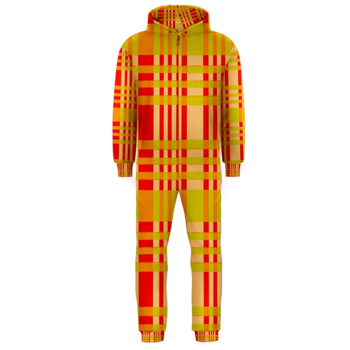 Check Pattern Hooded Jumpsuit (Men)