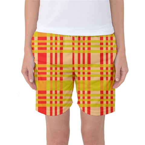 Check Pattern Women s Basketball Shorts