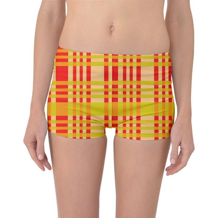 Check Pattern Boyleg Bikini Bottoms