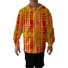 Check Pattern Hooded Wind Breaker (Kids)