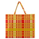 Check Pattern Zipper Large Tote Bag View1