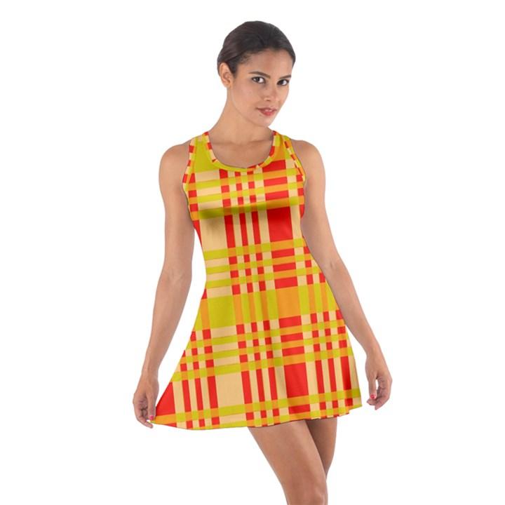 Check Pattern Cotton Racerback Dress