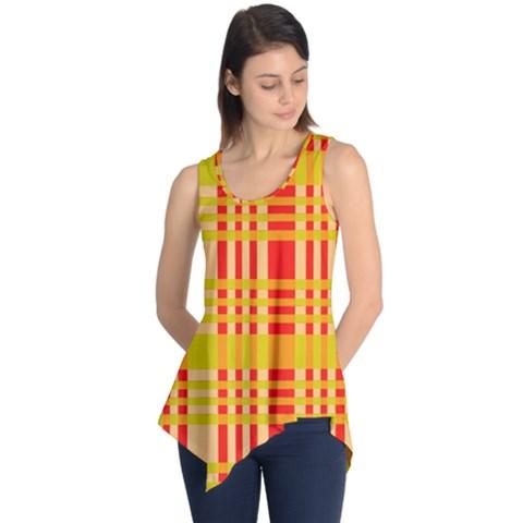 Check Pattern Sleeveless Tunic