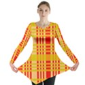 Check Pattern Long Sleeve Tunic  View1