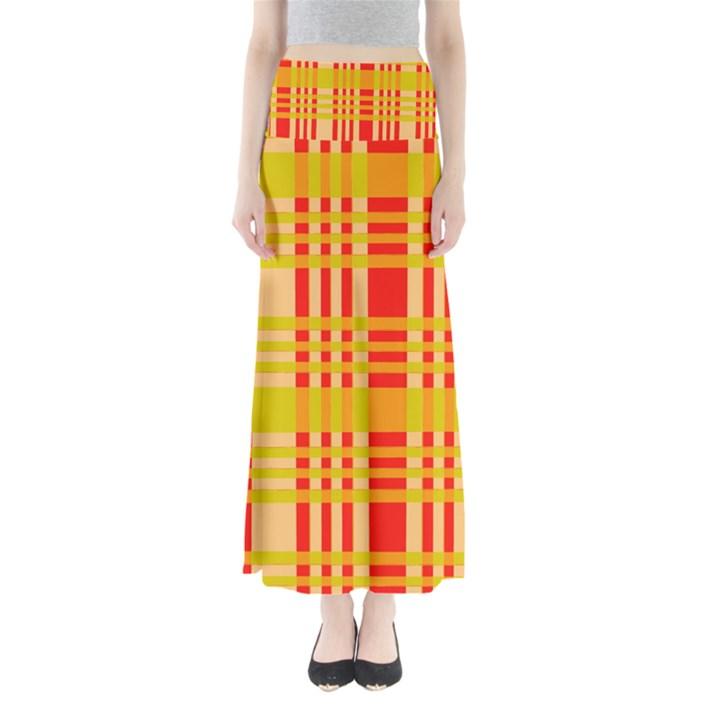 Check Pattern Maxi Skirts