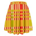 Check Pattern High Waist Skirt View2