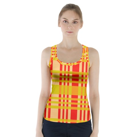 Check Pattern Racer Back Sports Top