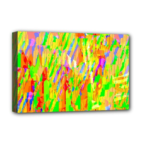 Cheerful Phantasmagoric Pattern Deluxe Canvas 18  x 12