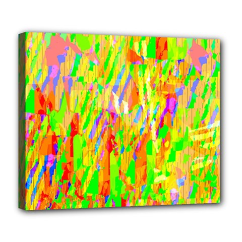 Cheerful Phantasmagoric Pattern Deluxe Canvas 24  x 20